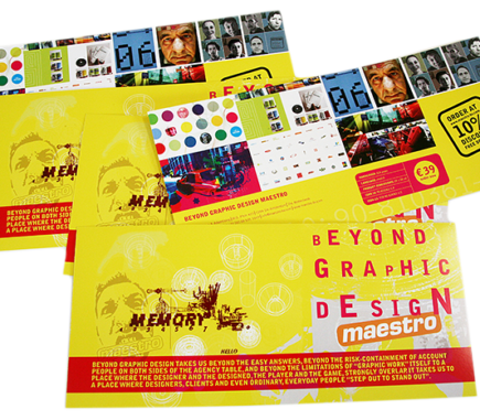 Beyond Graphic Design - Maestro promotional material